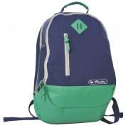 Rucsac logo herlitz Dimensiune 46X30X17cm canvas, culoare bleumarin/verde