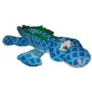 Plüss krokodil 58 cm - kék