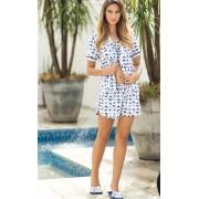 Pijama Feminino Mixte Adulto Cardigan com Short Rocio