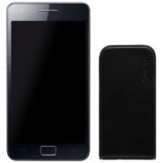 Husa Flip Face Negru SAMSUNG Galaxy S 2 Celly