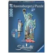 Puzzle Contur Statuia Libertatii, 1000 Piese