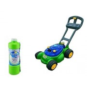 Kids Push N Bubble Mower 4 oz Bottle of Bubble Included Plus FREE 32oz Bottle Of Bubbles Mechanical