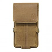 Jo Jo A6 Nillofer Series Leather Pouch Holster Case For Apple iPhone 4S 16GB Tan