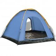 vidaXL Шестместна палатка, жълта