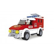 Fire Brigade City Red Fire Truck 94pc Ausini Educational Building Blocks Set Compatible To Lego Parts Best Gift For Boys And Girls