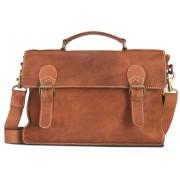 "Brando Aqua Leather Laptop Briefcase 15"""