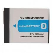 1200mAh batteri np-bd1/fd1 för Sony T200, T70