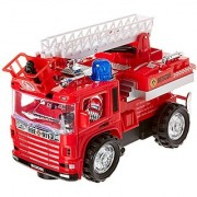 Env Toys Fire Truck Toy with Extending Ladder Battery Operated Fire Engine with Lights & Sounds Bump N Go Action