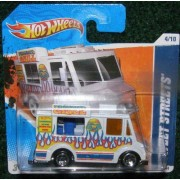2011 Hot Wheels Hw City Works 11 4/10 White Sweet Streets 174/244 Friburgers Grill Truck on Short Card