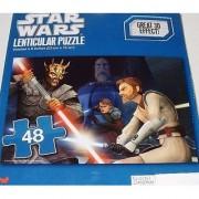 Star Wars 48 piece 3D Lenticular Puzzle SAVAGE OPRESS Sith Lord 9 x 6 (Lightsaber Duel Anakin Skywalker Obi-Wan Kenobi C