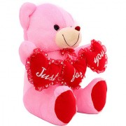 DealBindaas Tri Heart Ruby Bear Ilu Valentine Stuff Teddy Assorted