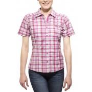 Axant Alps blouse korte mouwen Dames roze/grijs 36 Overhemden Korte Mouw