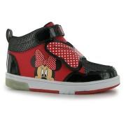 Sneaker hi top Disney Minnie cu luminite rosu negru
