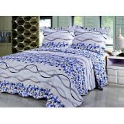 Cuvertură de pat single Valentini Bianco B810 Blue Bubbles
