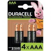 Duracell AAA 750mAh Rechargeable - Pack de 4 (HR3-B)