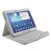 Teclado Bluetooth Destacável / Bolsa em Pele para Samsung Galaxy Tab 3 10.1 P5200, P5210, P5220 - Branco