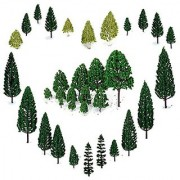 29pcs Mixed Model Trees 1.5-6 inch(4 -16 cm) OrgMemory Ho Scale Trees Diorama Models Model Train Scenery Architectur