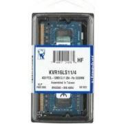 Memorija Kingston 4 GB SO-DIMM DDR3 1600MHz Value RAM, KVR16LS11/4