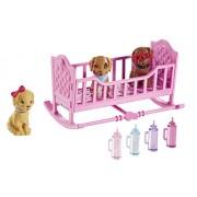 """Barbie CLK39 - Set da gioco con cagnolini e accessori, dal film di animazione: Barbie and Her Sisters in """"The Great Puppy Adventure"""""""