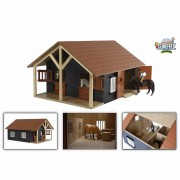 Kids Globe Farm Stables with 2 Boxes and 1 Workshop 1:24 610167