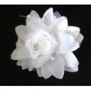 Svatební ozdoba do vlasů saténový květ 6647-2 6647-2