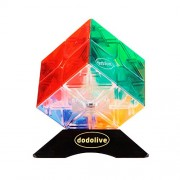 Dodolive 2x2x2 Mini Cube Intellengence High IQ for Kids Educational Tools Puzzle Game,Trans colors