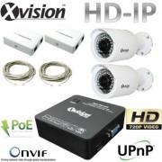 IP CCTV systém 2x HD IP bullet kamera + NVR