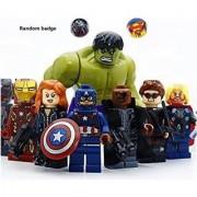Avengers #2 Super Heroes Ironman Captain America Hulk Minifigure Building Blocks Bricks Assembly Toy 8pcs Not Lego