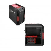 Boitier HTPC Chassis Cube Xpredator logement Micro-ATX - noir/rouge