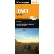 Universal Map Iowa Fold Map (Set of 2) 12173