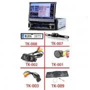 """7"""" HD Érintőkijelzős Autós DVD fejegység beépített GPS vevővel + Vezetékes tolatókamera szett"""
