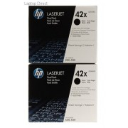 HP 42X Black Toner Cartridge Q5942XD Dual Pack