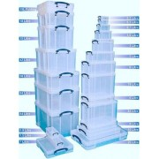 Really Useful Box 18 Litre - Mallette Pour Cd/Dvn - Capacité : 93 Cd, 44 Dvd - Transparent