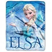"Disneys Frozen Silk Touch Elsa Palace Throw Blanket 40""x50"""