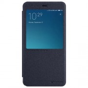 NILLKIN SPARKLE Series Xiaomi Redmi Note 4 Frosted Texture Horizontal Flip Leather Case with Call Display ID & Sleep / Wake-up Function(Black)
