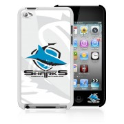 NRL Licensed Cronulla Sutherland Sharks Watermark Back Case for iPod Touch 4