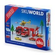 1:87 Fire Station Set With Firefighter Pick Up Truck Model Kit