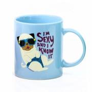 David & Goliath Sexy Blue Pug Mug