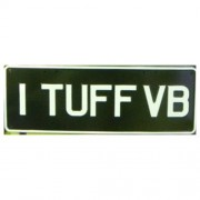"""Novelty Number Plate - 1 Tuff VB"""