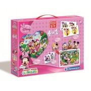 Clementoni - Edukit Minnie 6 Cubos Domino, Memo Y Puzzle 60 17-12885