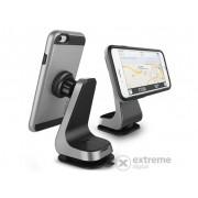Suport auto pentru telefon Verus Magnetic Grab cu magneti, argintiu