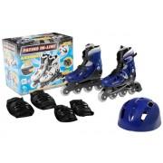 Patins In-Line Ajustáveis com Kit de Segurança Azul 38 ao 41 - Fênix