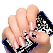 Nail Art Stamping Placa Stamper raspador 12X6CM