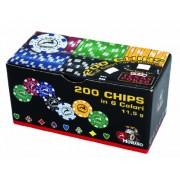 MODIANO Set 200 chips da 11,5g in 6 colori - con valore