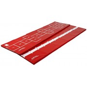 Tumbl Trak Hopscotch Mat, Red with Hopscotch Squares on One Side and Numbered Line on the Other Side for Long Jump, 3-Feet Width x 12-Feet Length x 1-3/8-Inch Height, 3 ft x 12 ft x 1-3/8 in/Red