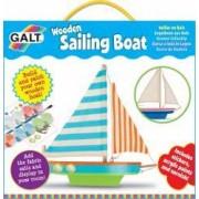 Kit barca din lemn cu vele