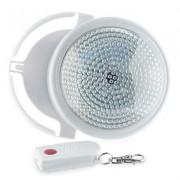 Lampada led con telecomando luce bianca a batteria diametro 12,6 cm