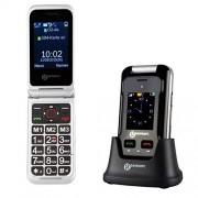 Geemarc Telecom S.A cl8500 Senior Teclas Grandes Teléfono Móvil (Tecla de Emergencia, Ice de función, cámara, Bluetooth, estación de carga de mesa), color negro