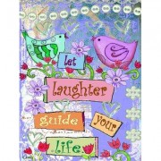 Caroline's Treasures Let Laughter Guide your Life Inspirational Vertical Flag PJC1053CHF
