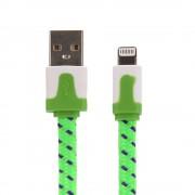 Nylon Lightning naar USB kabel - 100 cm - Groen